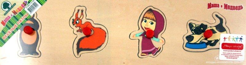 Иллюстрация 1 из 2 для Пазл-дерево Маша и Медведь 4 детали (GT5081) | Лабиринт - игрушки. Источник: Лабиринт
