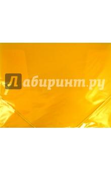 Папка пластиковая (на резинке, желтая) (221800)