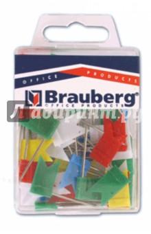Булавки-флажки маркировочные цветные, 50 штук (221537) Brauberg