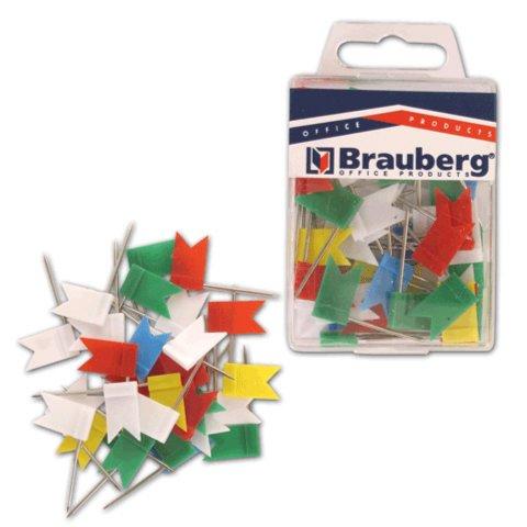 Иллюстрация 1 из 3 для Булавки-флажки маркировочные цветные, 50 штук (221537) | Лабиринт - канцтовы. Источник: Лабиринт