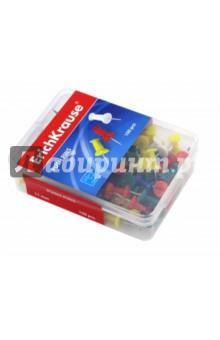 Силовые кнопки-гвоздики цветные, 100 штук (19749) кнопки канцелярские 14х11 50шт силовые оцинкованные