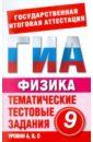Бойденко М. В., Мирошкина О. Н. Физика. 9 класс. Тематические тестовые задания для подготовки к ГИА