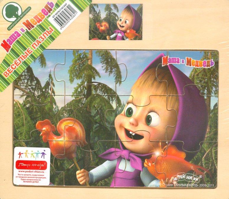 """Иллюстрация 1 из 11 для Пазл """"Маша и Медведь"""" 12 деталей (5079GT)   Лабиринт - игрушки. Источник: Лабиринт"""