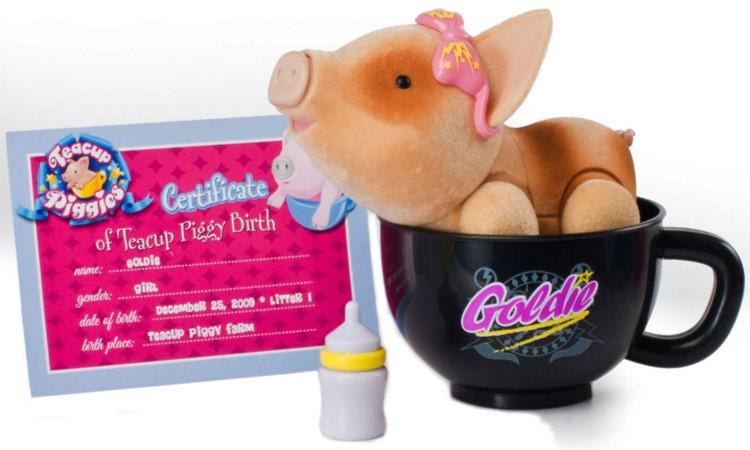 Иллюстрация 1 из 7 для Пигис-милашки в чайных чашках. Голди (23595)   Лабиринт - игрушки. Источник: Лабиринт