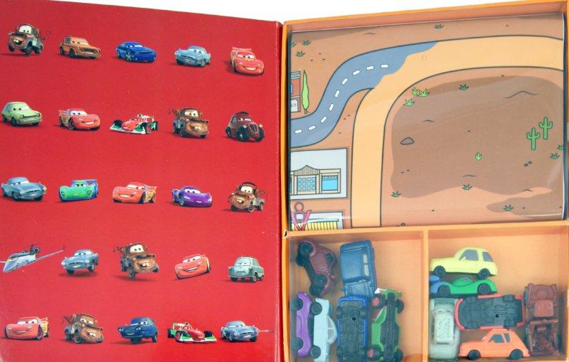 Иллюстрация 1 из 6 для Новые виражи. Тачки 2. Книжка с набором моделей | Лабиринт - книги. Источник: Лабиринт