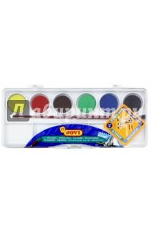 Краски акварельные с кистью 6 цветов (800/6)