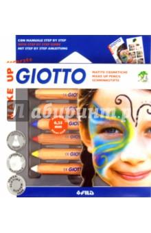 Грим-стик Giotto Make Up Classic (6 цветов) (F470200) набор д творчества giotto make up classic набор д грима 6 классических цветов карандашей 470200