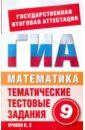 Данилова С. Д., Корнева Е. В. Математика. 9 класс. Тематические тестовые задания для подготовки к ГИА
