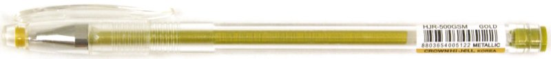 Иллюстрация 1 из 2 для Ручка гелевая золотая (HJR-500GSM) | Лабиринт - канцтовы. Источник: Лабиринт