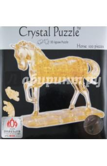 Головоломка ЛОШАДЬ золотая (91101) 3d головоломка лебедь черный