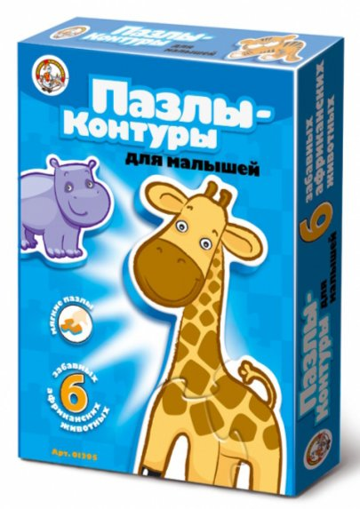 """Иллюстрация 1 из 4 для Пазлы-контуры для малышей """"Африканские животные"""" (01295)   Лабиринт - игрушки. Источник: Лабиринт"""