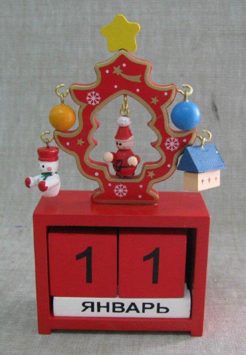 """Иллюстрация 2 из 4 для Украшение новогоднее деревянное """"Новогодний календарь"""" (22330)   Лабиринт - сувениры. Источник: Лабиринт"""