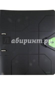 Папка А4 на 2-х кольцах, 35 мм, зеленый (80283)