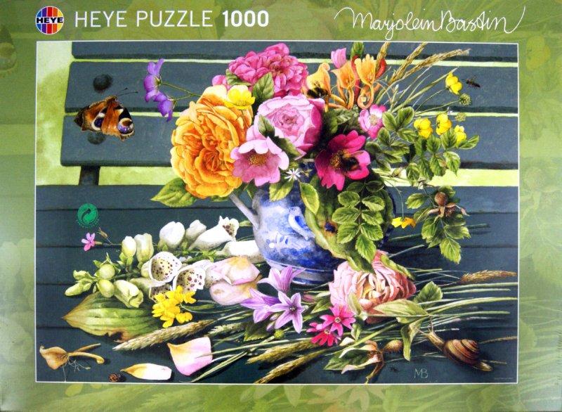 """Иллюстрация 1 из 14 для Puzzle-1000 """"Букет на скамейке"""" Marjolein Bastin (29391)   Лабиринт - игрушки. Источник: Лабиринт"""