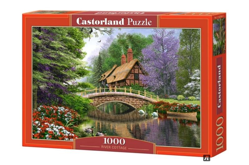 """Иллюстрация 1 из 15 для Puzzle-1000 """"Дом у реки"""" (C-102365)   Лабиринт - игрушки. Источник: Лабиринт"""