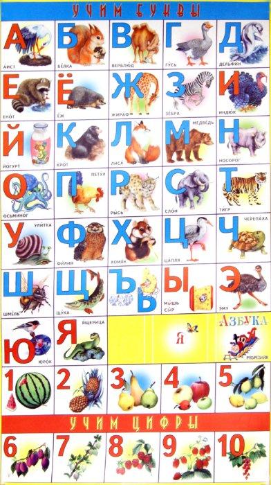 Иллюстрация 1 из 8 для Плакат: Азбука разрезная | Лабиринт - книги. Источник: Лабиринт