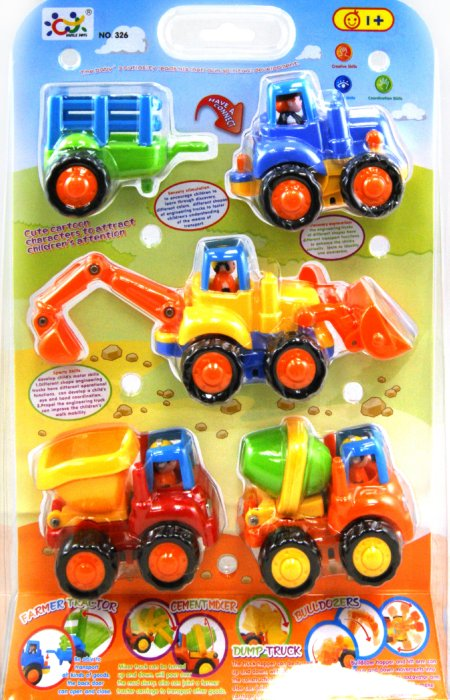 Иллюстрация 1 из 10 для Машины инерционные, 5 предметов в наборе (326) | Лабиринт - игрушки. Источник: Лабиринт