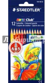 Карандаши 12 цветов (144 NC12P1 Noris Club 144)