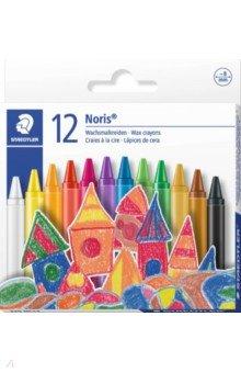 Мелки восковые 12 цветов круглые (220 NC12 Noris Club 220) от Лабиринт
