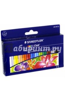 Пастель масляная Noris Club 243 Jumbo (12 цветов) (243 NC12) пастель масляная 48 цветов 293200