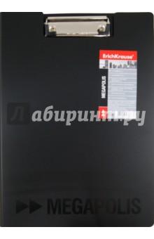 Папка-планшет А4, пластиковая черная (222367)