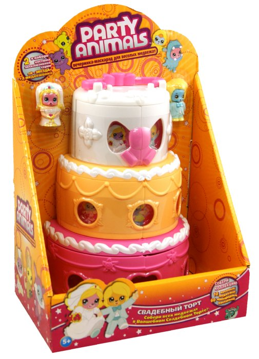 """Иллюстрация 1 из 7 для Игровой набор Party Animals """"Свадебный торт"""" (60600)   Лабиринт - игрушки. Источник: Лабиринт"""