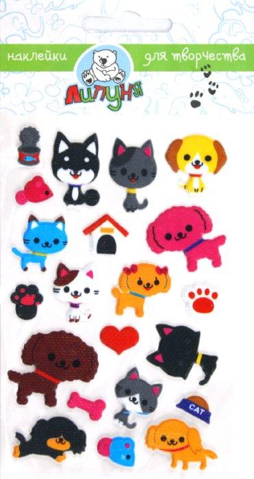 """Иллюстрация 1 из 5 для Наклейки детские """"Кошки и собаки"""" (ZF016)   Лабиринт - игрушки. Источник: Лабиринт"""
