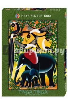 купить Puzzle-1000 Семья слонов Tinga (29458) дешево