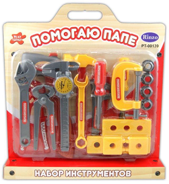 Иллюстрация 1 из 11 для Помогаю папе. Набор инструментов (PT-00139(0713Q-1)) | Лабиринт - игрушки. Источник: Лабиринт