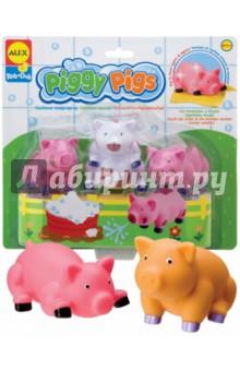 Игровой набор для ванны Вымой поросенка, меняющий цвет (825PN) alex игрушки для ванны 3 цветные лодочки
