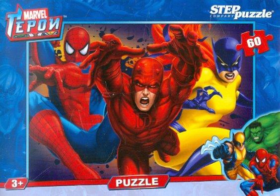 """Иллюстрация 1 из 5 для Step Puzzle-60 """"Герои Marvel"""" (81112)   Лабиринт - игрушки. Источник: Лабиринт"""
