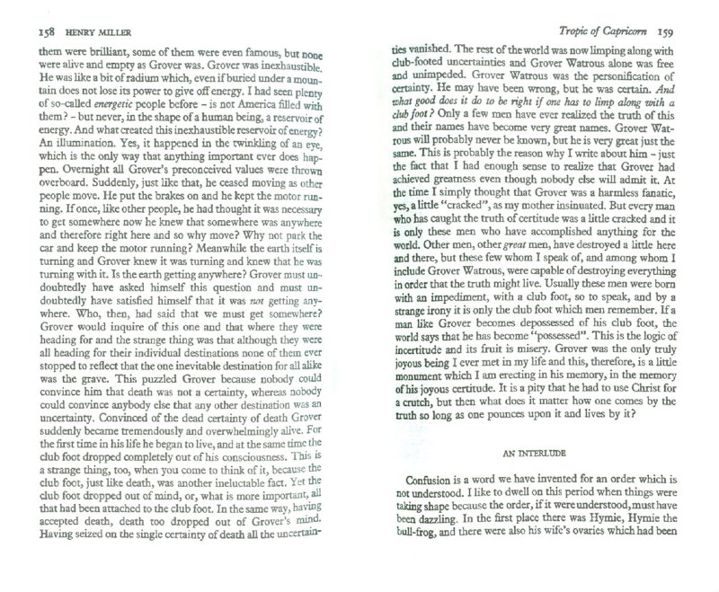 Иллюстрация 1 из 2 для Tropic of capricon - Henry Miller | Лабиринт - книги. Источник: Лабиринт