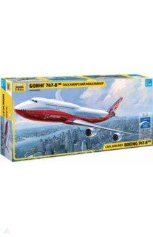 Купить Сборная модель Пассажирский авиалайнер Боинг 747-8 (7010), Звезда, Пластиковые модели: Авиатехника (1:144)