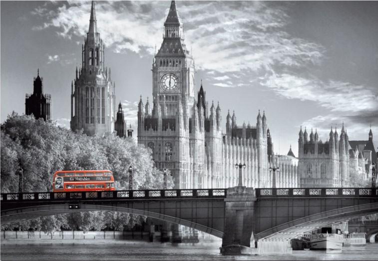 """Иллюстрация 1 из 6 для Пазл-1000 """"Лондонский автобус"""" (15180)   Лабиринт - игрушки. Источник: Лабиринт"""