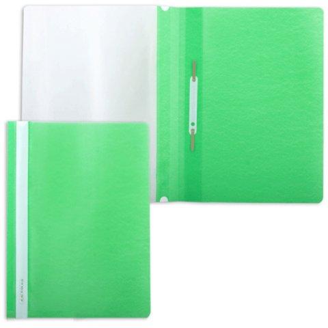 Иллюстрация 1 из 3 для Скоросшиватель пластиковый, зеленый (220414) | Лабиринт - канцтовы. Источник: Лабиринт