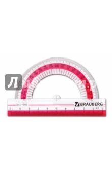 """Транспортир """"Сrystal"""" 180°/100мм: прозрачый (210292)"""
