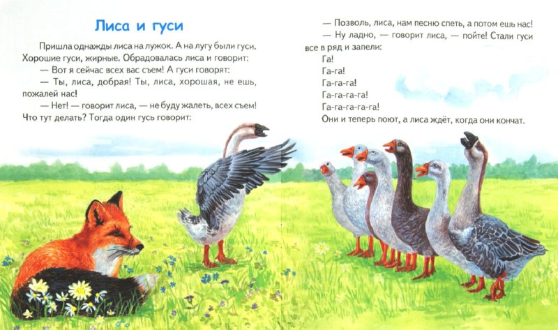 Иллюстрация 1 из 13 для Лиса и гуси - Константин Ушинский | Лабиринт - книги. Источник: Лабиринт