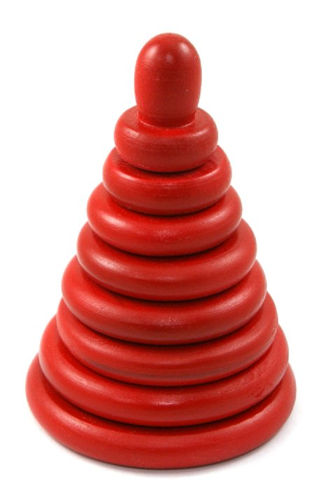 Иллюстрация 1 из 6 для Пирамидка красная (8 деталей) (Д-511) | Лабиринт - игрушки. Источник: Лабиринт
