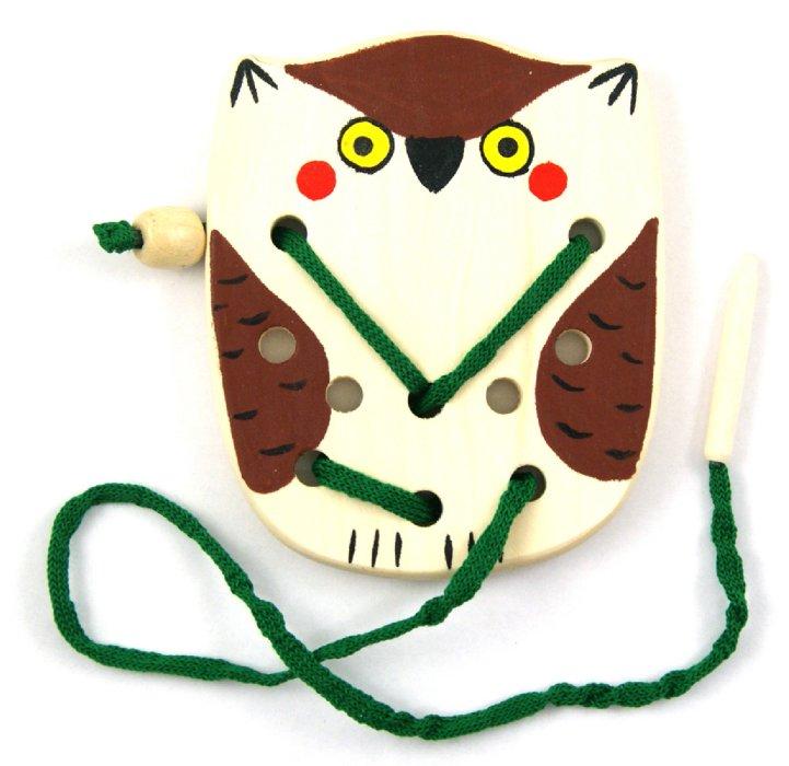 Иллюстрация 1 из 3 для Сова-шнуровка (Ш-084) | Лабиринт - игрушки. Источник: Лабиринт
