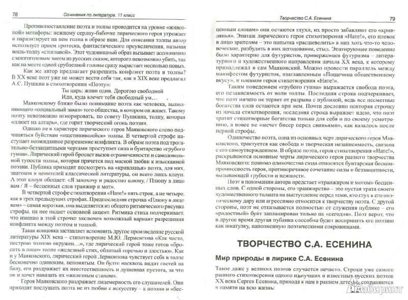 Иллюстрация 1 из 6 для Готовые сочинения по литературе. 11 класс | Лабиринт - книги. Источник: Лабиринт