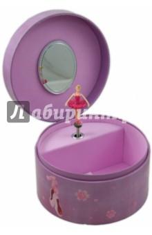 Шкатулка музыкальная Балерина в розовом (614000) музыкальная шкатулка jakos балерина цвет бежевый розовый