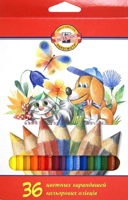 Иллюстрация 1 из 2 для Карандаши цветные, 36 цветов (3585) | Лабиринт - канцтовы. Источник: Лабиринт