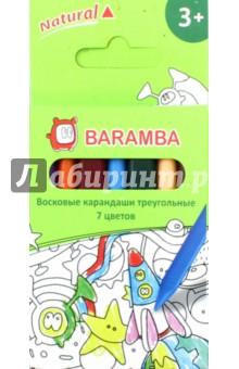 Восковые карандаши (7 цветов, трехгранные) (B97307) от Лабиринт