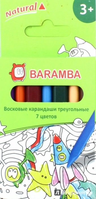 Иллюстрация 1 из 27 для Восковые карандаши (7 цветов, трехгранные) (B97307) | Лабиринт - канцтовы. Источник: Лабиринт