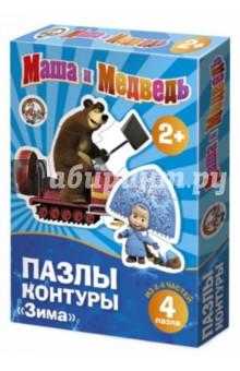 """Маша и Медведь. Пазл-контур """"Зима"""" (01445)"""