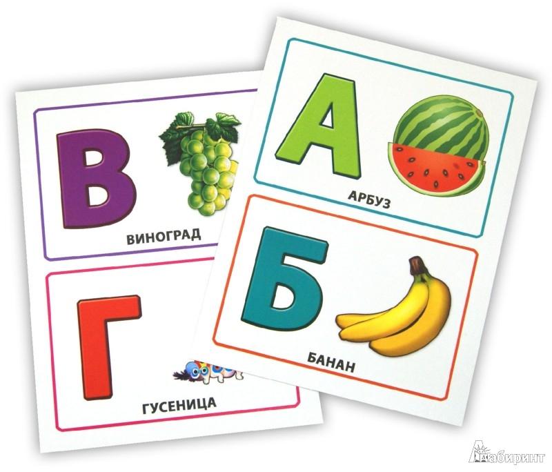 Иллюстрация 1 из 8 для Алфавит. Обучающие карточки   Лабиринт - книги. Источник: Лабиринт