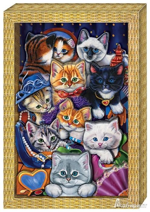 """Иллюстрация 1 из 6 для Набор для изготовления картины """"Я люблю котят"""" (АБ 21-111)   Лабиринт - игрушки. Источник: Лабиринт"""