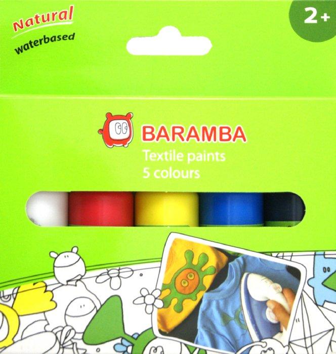 Иллюстрация 1 из 2 для Краски для рисования по ткани 5 цветов (B00859) | Лабиринт - канцтовы. Источник: Лабиринт