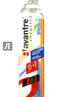 """Карандаши цветные шестигранные """"Avantre Creative"""", 6 цветов+1 (AV-PNC07) от Лабиринт"""