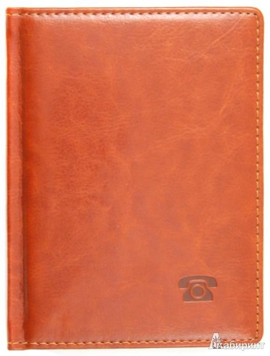 """Иллюстрация 1 из 2 для Телефонная книга """"Classic"""" 64 листа, А6, коричневый (612816)   Лабиринт - канцтовы. Источник: Лабиринт"""
